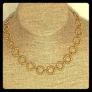 Vintage Trifari Twisted Rope Circles Necklace